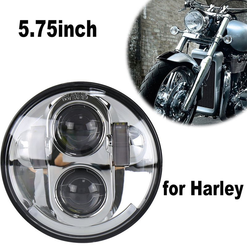5.75inch Led Moto Headlight 40w High Low Beam For Harley Davidsion Motorbike Accessories Motorcycle Headlight 12v 24v Unequal In Performance Home