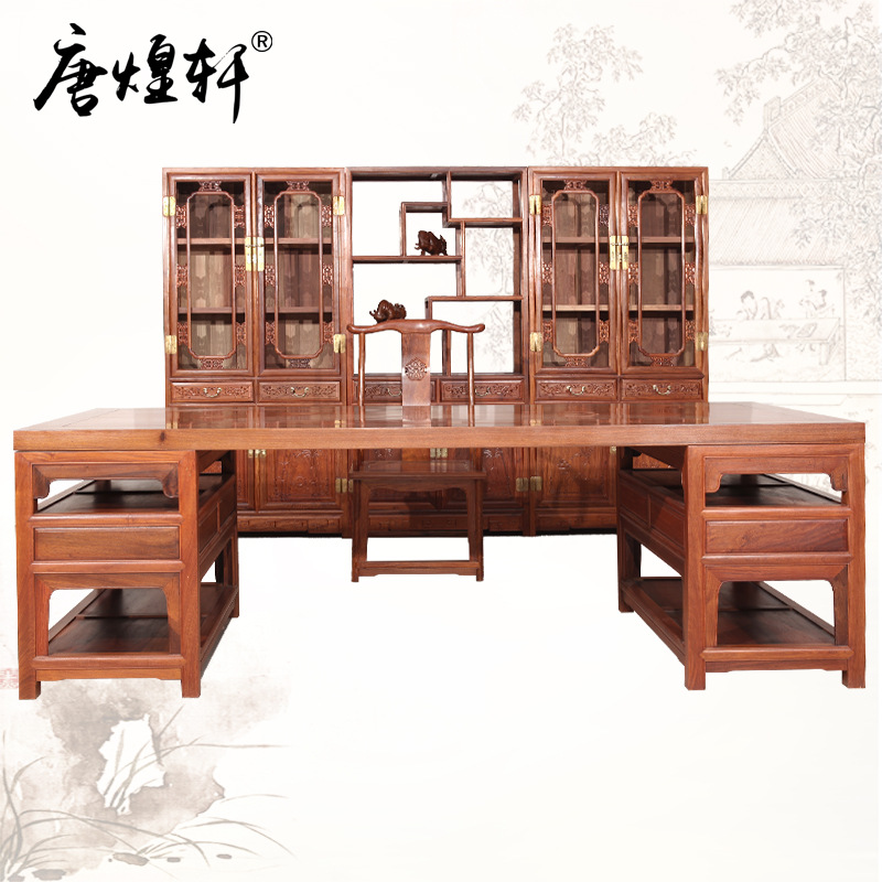 Burma Pear Is Five Large Mahogany Furniture Sets Chinese Antique Painting Padauk Wood Table Painting Table