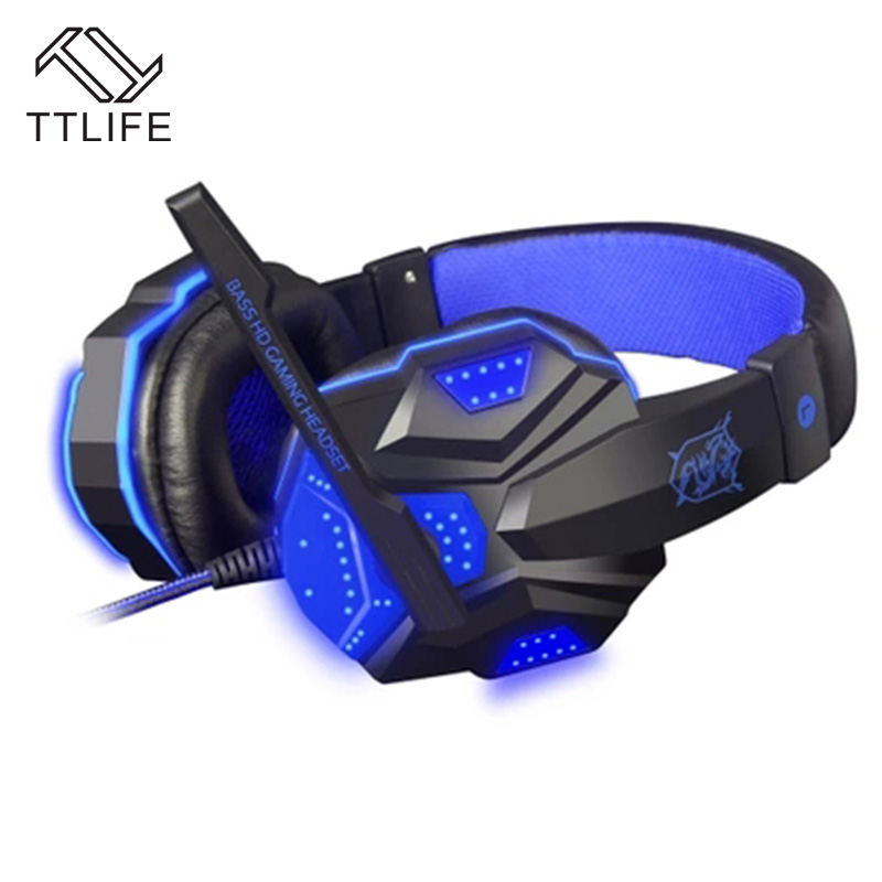 TTLIFE Wired Gaming Headphones PC780 3D Surround Sound Stereo Bass PC Gamer Headset With Mic for Computer PS4 Internet Bar high quality gaming headset with microphone stereo super bass headphones for gamer pc computer over head cool wire headphone