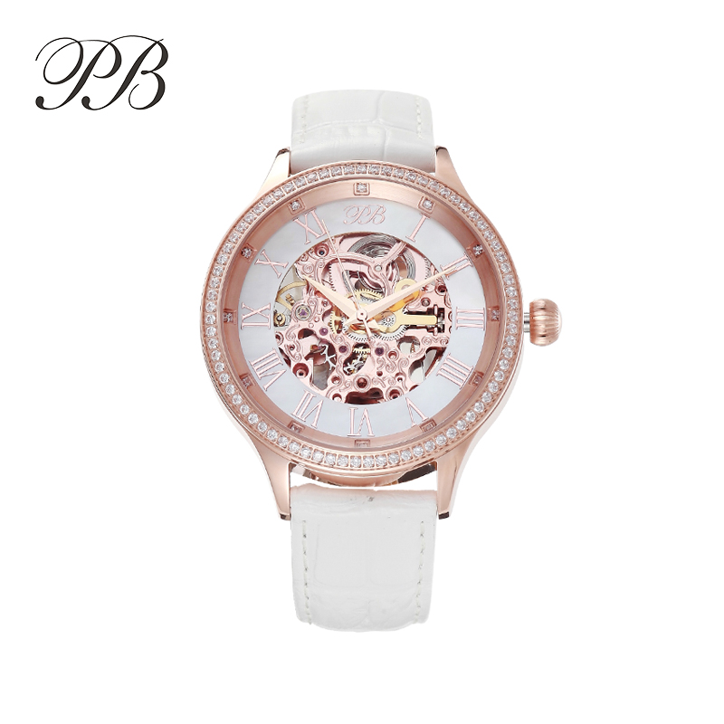 Hot Sale Famous BP Brand Princess Butterfly Lady Lucky Clover Watch Element Crystal Automatic Mechanical Wrist Watch hot sale famous bp brand princess butterfly lady lucky clover watch austrian crystal automatic self wind wrist watch