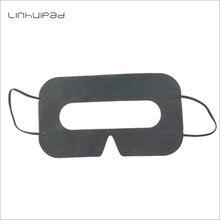 Linhuipad 100 adet siyah hijyen VR pedleri sıhhi tek kullanımlık VR maske pedleri kapak için 3D VR gözlük