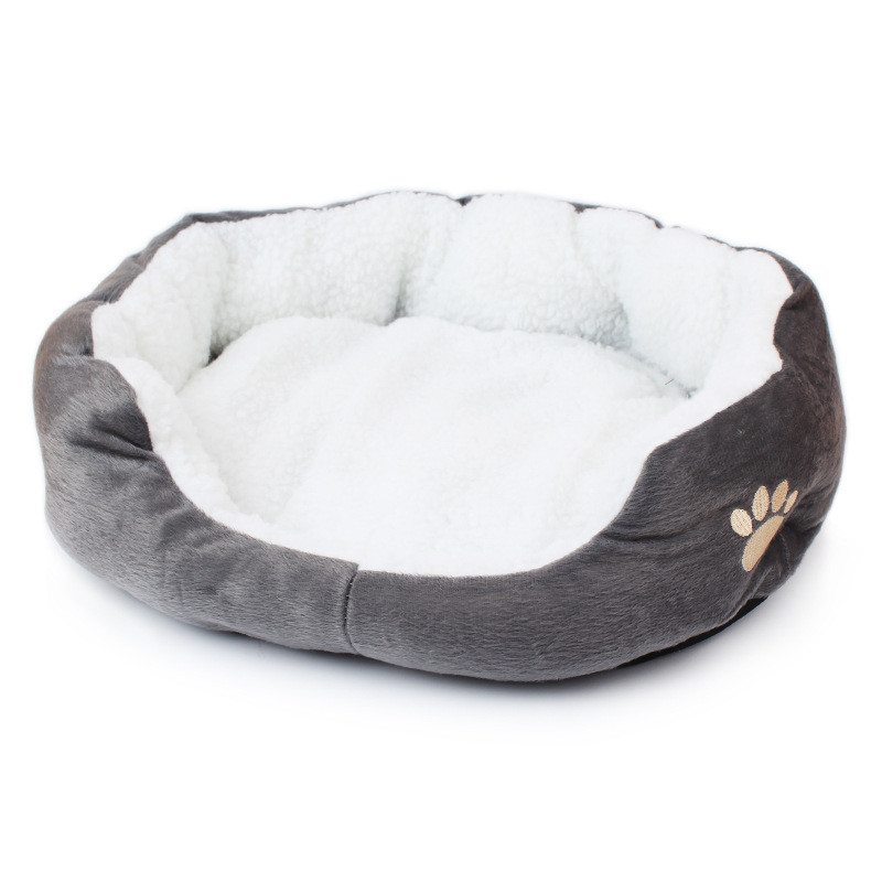 Cat Bed: Super Cute Soft Fluffy Cotton Bed Grey