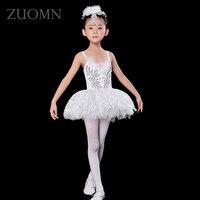 Prestazioni costumi Little Swan Abiti Da Ballo di balletto per bambini bianco garza fleabane amaro fleabane amaro ragazza YL360