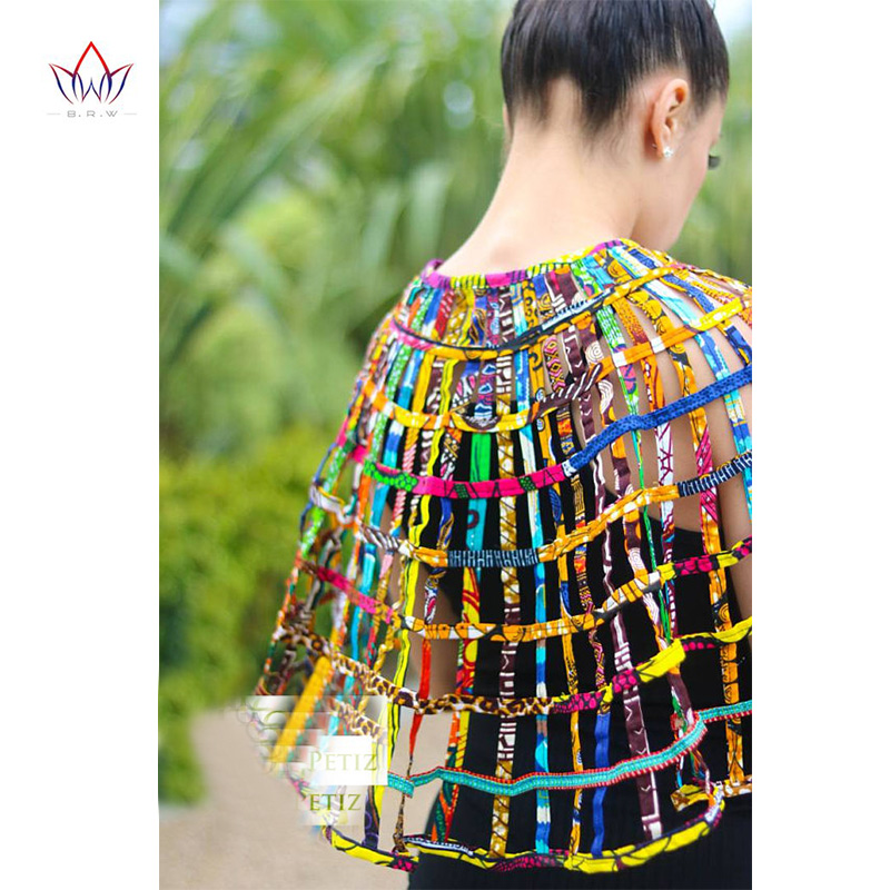 BRW Ankara africain Net colliers col châle femmes vêtements accessoires collier multibrin africain Hademade bijoux WYA160