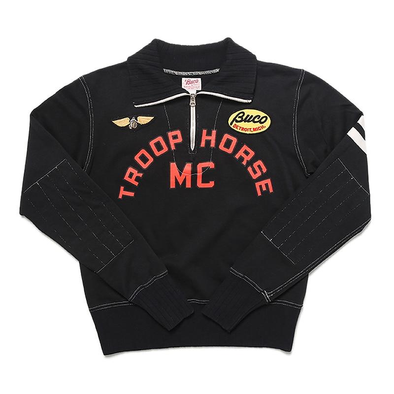 TroopHorse MC التطريز البلوز خمر قصيرة السترة دراجة نارية سترة أعلى مقهى المتسابق سباق جيرسي للرجال-في قمصان وسترات بقلنسوة من ملابس الرجال على  مجموعة 1