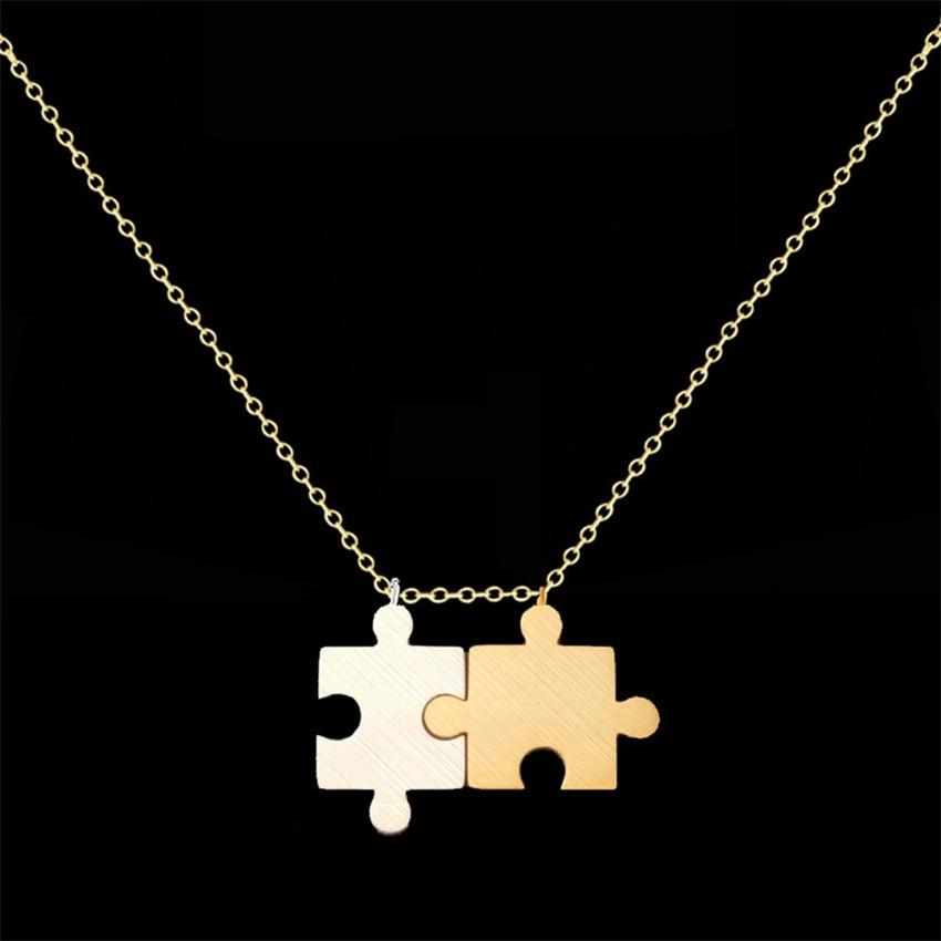 Cadena de acero inoxidable Bijoux Femme Moon & Star Heart Puzzle - Bisutería - foto 5