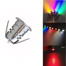 20 шт 1 Вт 12 В светодиодная лампа для подземной палубы уличная