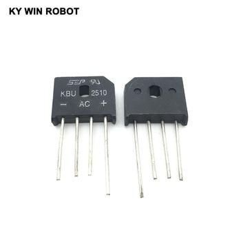 5PCS 25A 1000V diode bridge rectifier KBU2510 10pcs smd us1m uf4007 1a 1000v sma fast recovery diode rectifier