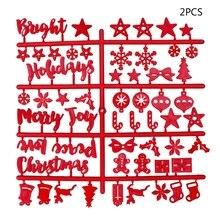 Рождественская войлочная вывеска пластиковые буквы из фетра доска для вывески