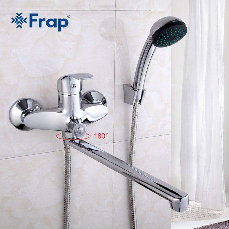 FRAP Ein satz 30 cm länge outlet gedreht Messing körper Bad dusche wasserhahn Vier griff optionen F22001