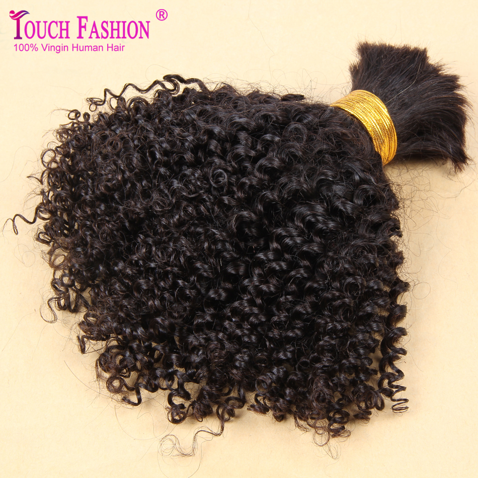 Touch Fashion Curly Braiding Human Hair Bulk 3pcs Lot Bulk ...