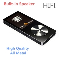 2017 Оригинал HIFI MP3-плееры с Динамик металла высокое качество 8 ГБ без потерь Музыкальный плеер поддерживает 128 ГБ карты памяти с FM радио