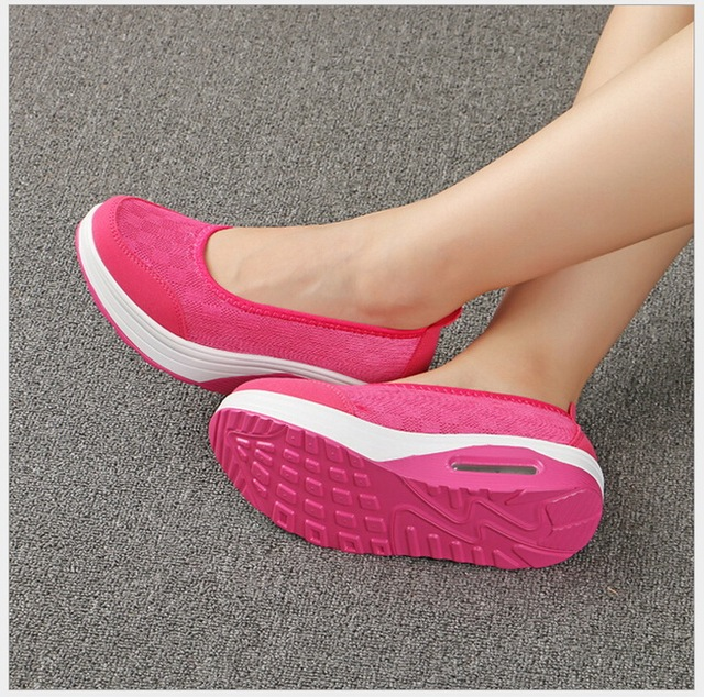 2017 hot style Slimming Shoes  Mesh movement leisure nurse shoes for women's shoes size 35-42