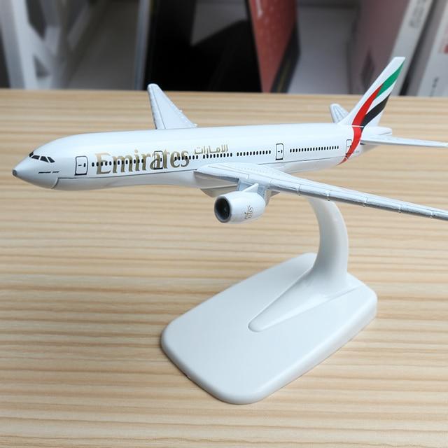 16cm United Arab Emirates Airlines Airplane Model Boeing 777 Malaysia Brazil TAM Israel Kenya Philippines Jet Airway Model 1:400