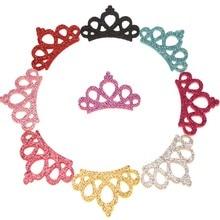 480 stücke Nette Haar Zubehör Glitter Patch 2,5*4,5 cm Haar Blume crown Mode Headwrap Boutique Zubehör Keine Bögen keine Haarspange