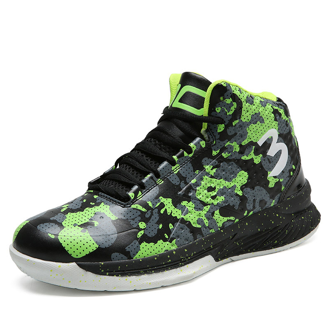 sufei Basketball Shoes Men Breathable Camouflage Outdoor Sport Sneakers Athletic Cushion Shoes Basketball Boots Zapatillas