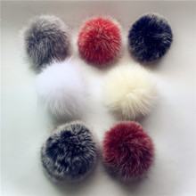 11pcs Promotion! 100% Real Raccoon Fur Pompoms luxurious fur balls Genuine Pom for Bag Hats Cap S Attached the Hasp