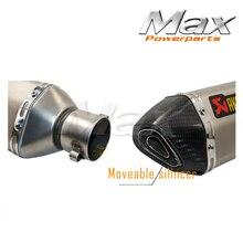 Akrapovic Carbon Fiber Head Motorcycle Exhaust Pipe Muffler MAK51A-03 CBR CB400 CB600 CBR1000 Z750 Z800 Z1000 ER6N