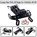 For YAMAHA MT-09 MT 09 MT09 Tracer FJ-09 FJ09 FJ Tracer 900 Fender Eliminator Registration Plate Bracket License Plate LED Right
