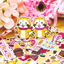 36pcs Creative Cute Self-made Raccoon couple stickers DIY Stickers Diary Album Decoration scrapbooking child stationery office