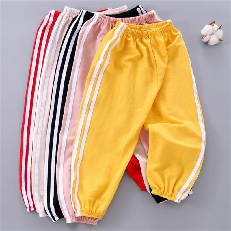 Baby Sport Pants 1-6T Kids Children Boys Girls Casual Pants Summer Boys Long Trousers Thin Loose Stripes Baby Boys Clothing