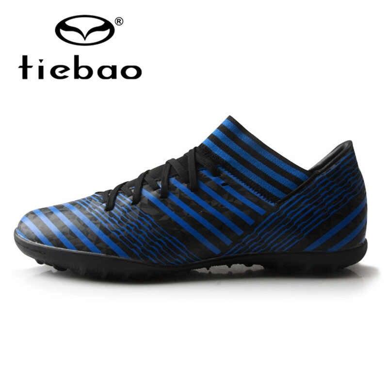 TIEBAO futbol ayakkabısı Chuteira Futebol Kauçuk Taban TF Çim Futbol Ayakkabıları futbol kramponları EU35-44 Eğitim Futbol Sneakers