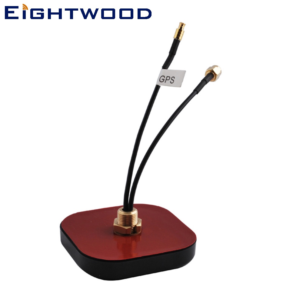 Eightwood Car GPS+GSM/3G Combined Antenna SMA / MCX Connector for VW Audi BNW Ham 1pcs for vw audi mirror switch connector 6q0 972 706 a car connector