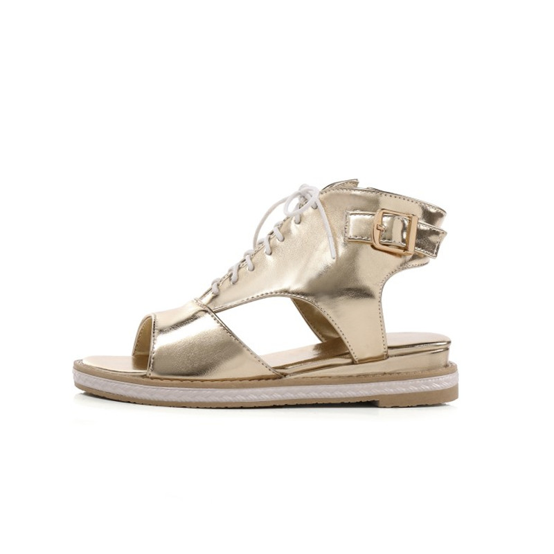 Prova Perfetto Tête Femmes Cheville Chaussures Côté Boucle Cales Silver Lacets Nouvelle Bottes gold De Zipper Talons Poisson Croix Sandales Bas Liée rrCw7qdEf