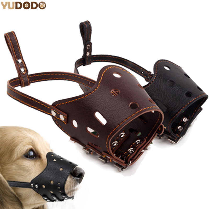 Soft PU Leather Adjustable Muzzles for Dog Anti Bark Bite Grooming Training Mouth Cover Pet Outdoor Accessory Perros Mesh Mask Намордник