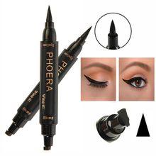 Eye Beauty Makeup 2 in1 Waterproof Stamps Eyeliner Tool Makeup No Blooming Eyeliner Women Eye Makeup maquiagem