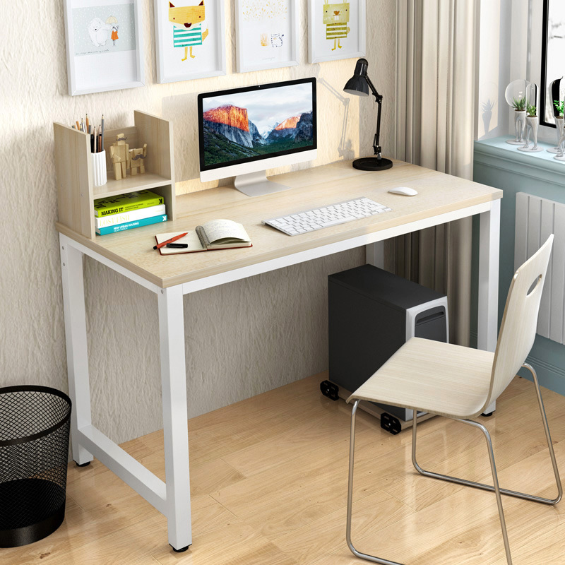 Simple Modern Office Desk Portable Computer Home Furniture Study Writing Table Desktop Laptop