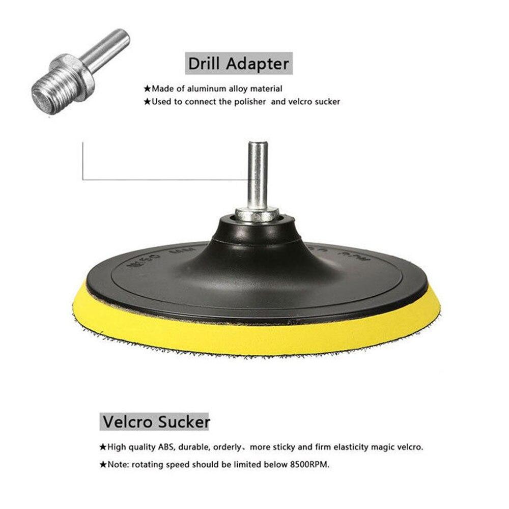 Vehemo 8 шт. полировальный коврик комплект колеса автомобиля губка для полировки многоцветный полирующая пена для многоцветный спонж автомобиля