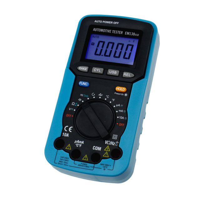 Hot Digital Multimeter AC/DC Voltage Current Capacitance Engine Speed Meter Temperature with Computer Interface цены