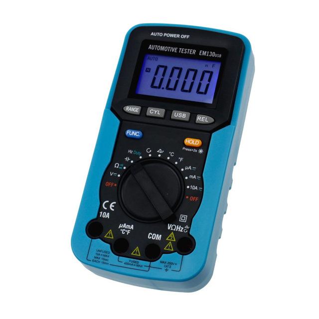 Hot Digital Multimeter AC/DC Voltage Current Capacitance Engine Speed Meter Temperature with Computer Interface