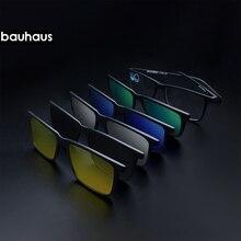Bauhaus прикрепляемые очки дизайн поляризационные магнитный зажим очки для мужчин Магнитная Рамка Близорукость очки Prescrioption Оптические солнцезащитные очки