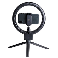 7 inch Photography Ring lamp LED Selfie Ring Light for YouTube Video Live Makeup Camera Light With Phone Holder USB Plug Tripod