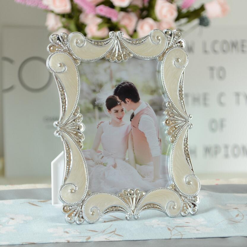 Picture frame foto do casamento estúdio europeu moda atmosférica mesa photo frame presente quadro de casamento do diamante 6/7/8/10 polegada D40