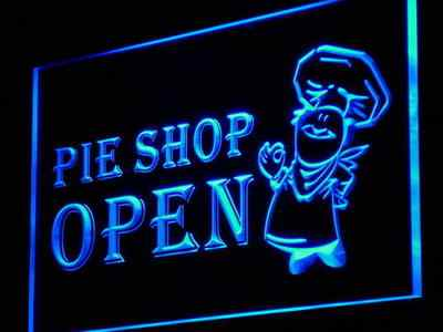i880 Pie Shop Open Display Fluorescent Light Sign On/Off Switch 20+ Colors 5 Sizes