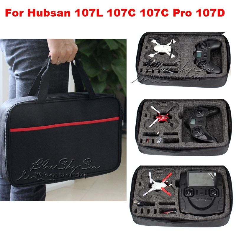 Blueskysea Light Small Carrying Case Box Bag Black For Hubsan model X4 H107C Pro H107D+ PRO H07L H107D spark storage bag portable carrying case storage box for spark drone accessories can put remote control battery and other parts