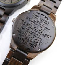 To My Son Engraved Wooden Watch Men Gift