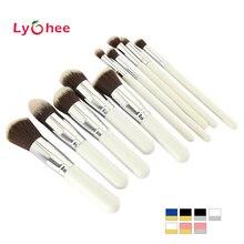 10 pcs Professional Makeup Brush Set Maquiagem Beauty Foundation Powder Eyeshadow Cosmetics Make Up Brushes Kabuki Brush Tool