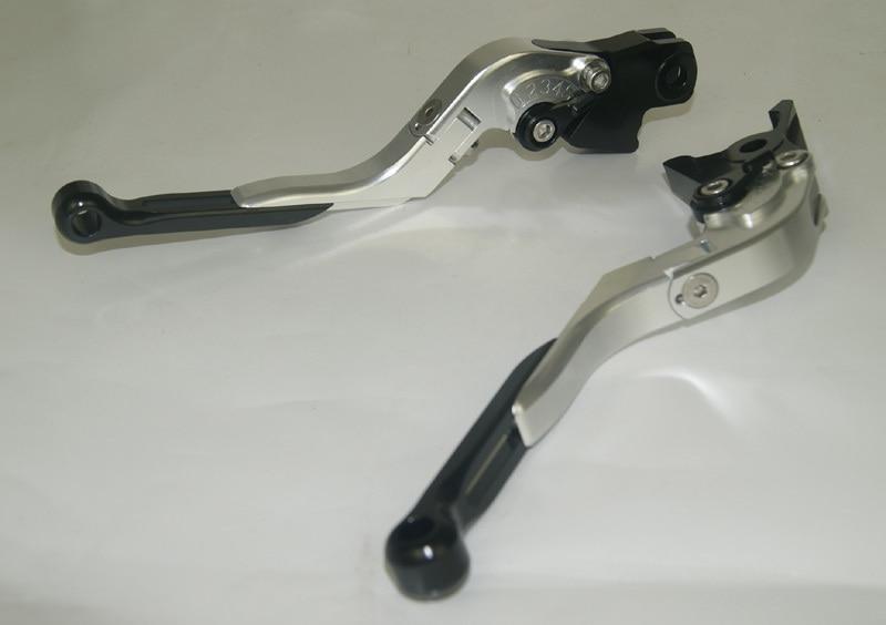 Motorcycle Brake Clutch Levers Adjustable Folding Extendable Black+Silver For 2004-2007 Honda CBR1000RR CBR 1000 RR FIREBLADE billet adjustable long folding brake clutch levers for honda cbr600rr 07 14 09 10 11 12 cbr1000rr cbr 1000 rr fireblade 08 14 13