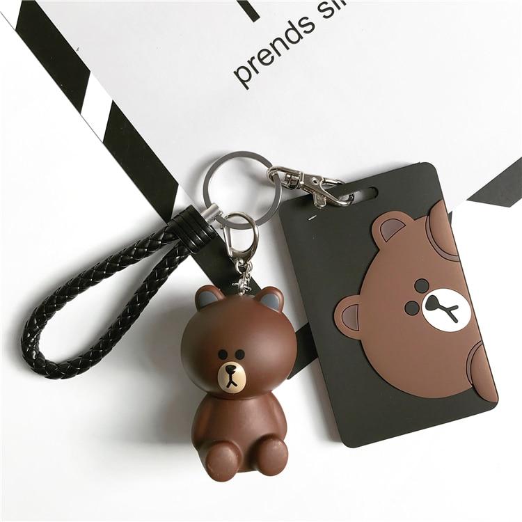 Cartoon Rabbit Creative Kawaii Cute Children Girl Badge Holder Vertical Student Office School Supplies ID Name Card Holders