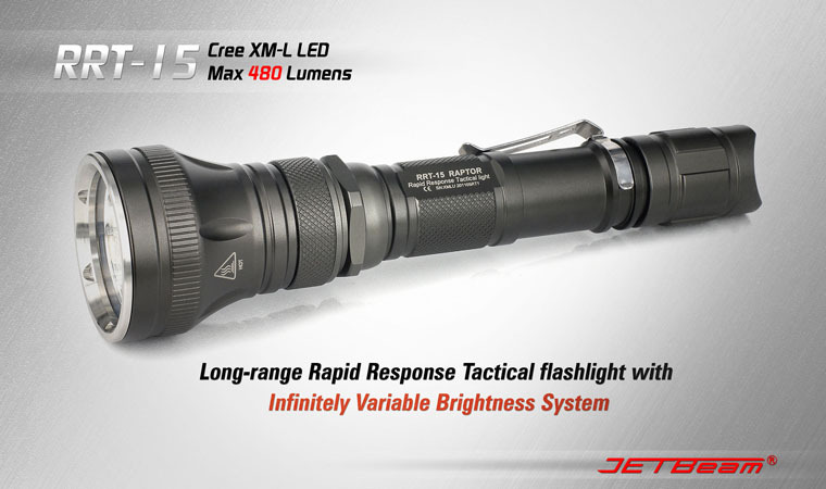 Free Shipping Original JETBEAM RRT 15 CREE XM L T6 480Lumens CR123* batteries aluminum waterproof flashlight tactical torch