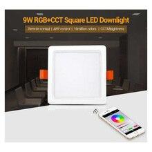 FUT064 9W RGB+CCT Square LED Downlight AC100~240V,FUT089 8-Zone RGB+CCT Remote Controller цена 2017