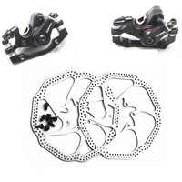 1 Pair Bicycle Front Rear Disc Brakes MTB Aluminum Alloy Durable BB5 Disc Brake Mechanical Caliper Cycling Brake Accessories