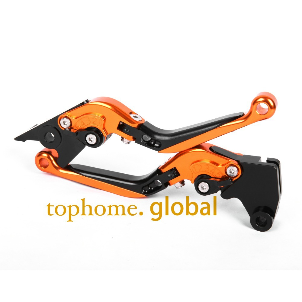 Hot CNC Folding&Extending Brake Clutch Levers For Moto guzzi 1200 Sport 2007-2013 Orange&Blac Motorcycle Accessories adjustable cnc aluminum clutch brake levers with regulators for moto guzzi breva 1100 2006 2012 1200 sport 07 08 09 10 11 12 13