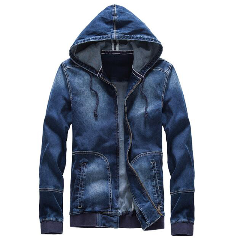 2017 High Quality Mens Hooded Cape Jackets and Coats Big And Tall Mens Jeans Jackets Wholesale Mens Denim Coat Streetwear C1069
