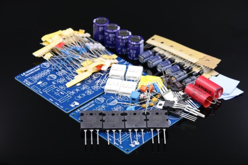 LJM Audio L6 Stereo HiFi Power Amplifier Kit Two-channel Amplifier Board DIY Kit 3pcs lot stk412 150 stk412 two channel shift power supply audio power amplifier ics 150w 150 w