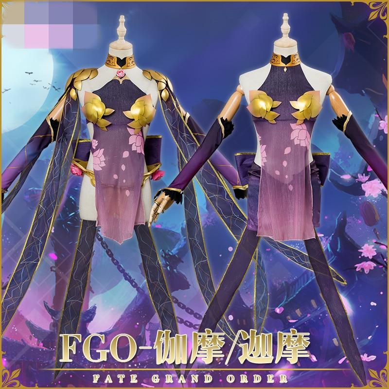 2019 Nuovo Fate/Grand Ordine Costume di Halloween Cosplay Sexy Vestito Viola Delle Donne del Vestito